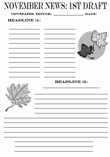 Newspaper Template for Kids Elegant Newspaper Article Template for Students