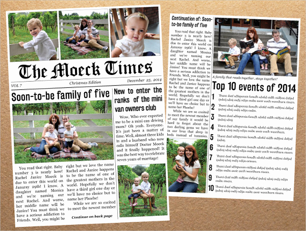 Newspaper Template for Kids Elegant Newspaper Template 16 Free Word Pdf Documents Download