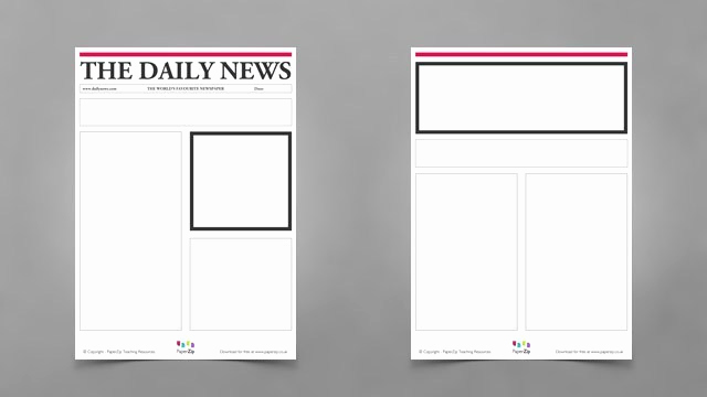 Newspaper Template for Kids Fresh Blank Newspaper Templates Paperzip