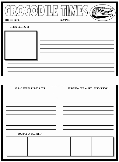 Newspaper Template for Kids Fresh Newspaper Template for Kids