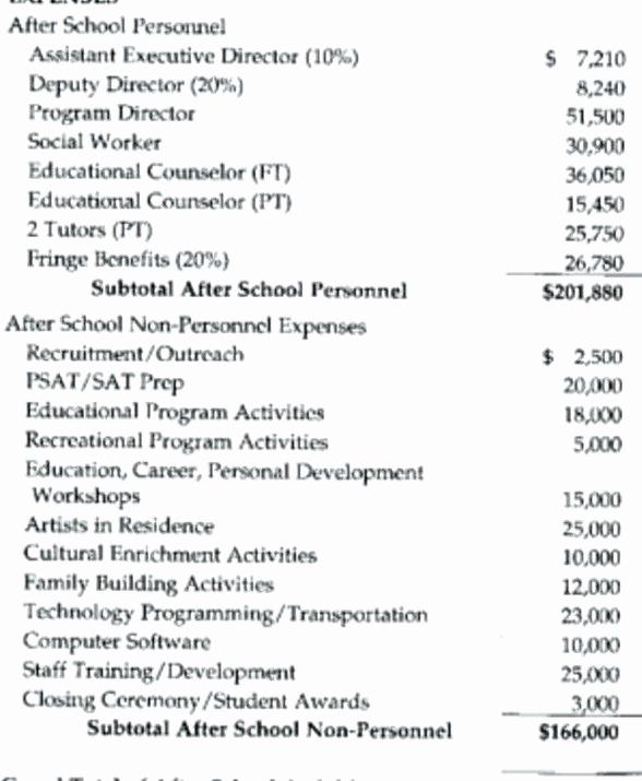 Non Profit Budget Template Fresh Nonprofit Grant Bud Template 8 Non Profit Bud