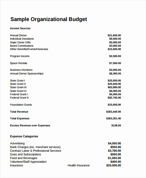 Non Profit Budget Template Lovely 12 Non Profit Bud Templates Word Pdf Excel