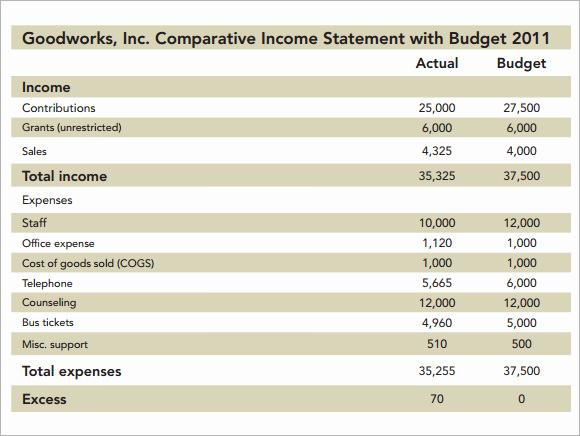 Non Profit Budget Template Luxury 7 Non Profit Bud Samples Word Pdf Excel