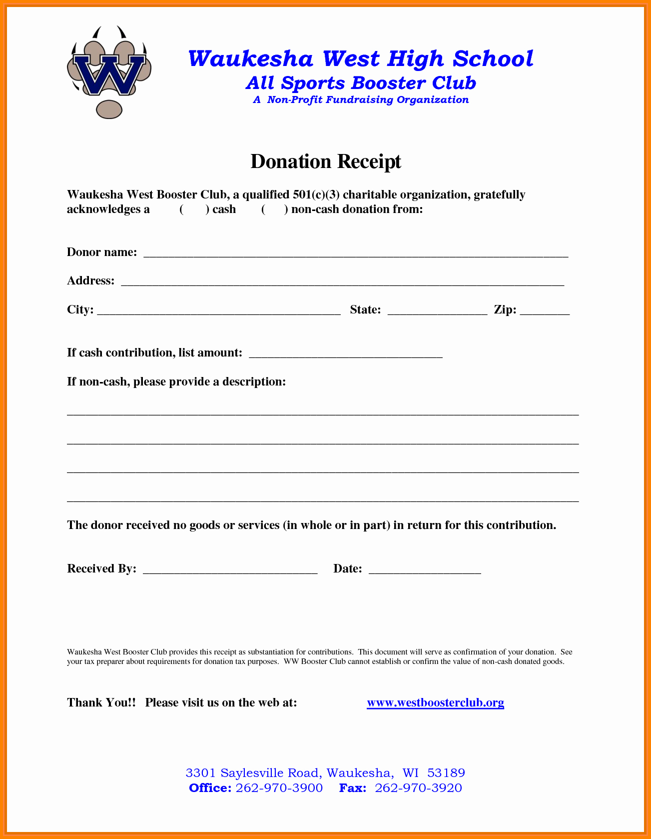 Non Profit Donation Receipt Template Awesome 9 Non Profit Donation Receipt Template