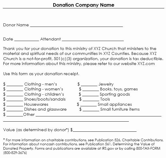 Non Profit Donation Receipt Template Awesome Non Profit Donation Card Template