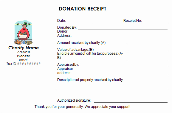Non Profit Donation Receipt Template Awesome Sample Donation Receipt Template 17 Free Documents In