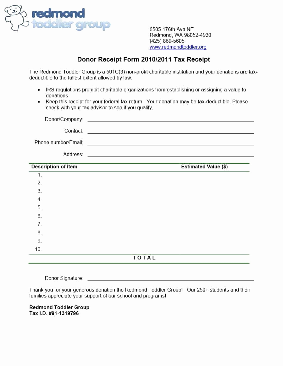 Non Profit Donation Receipt Template Best Of Charitable Donation form Template You Will Never Believe