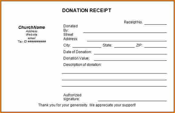 Non Profit Donation Receipt Template Elegant 5 Sample Donation Receipt for Non Profit