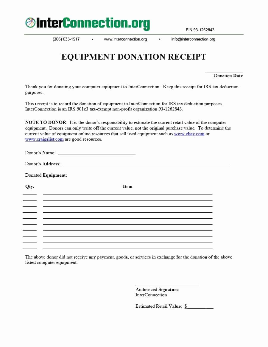 Non Profit Donation Receipt Template Fresh 40 Donation Receipt Templates & Letters [goodwill Non Profit]