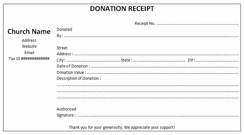Non Profit Donation Receipt Template Luxury Church Tax Donation Receipt Template
