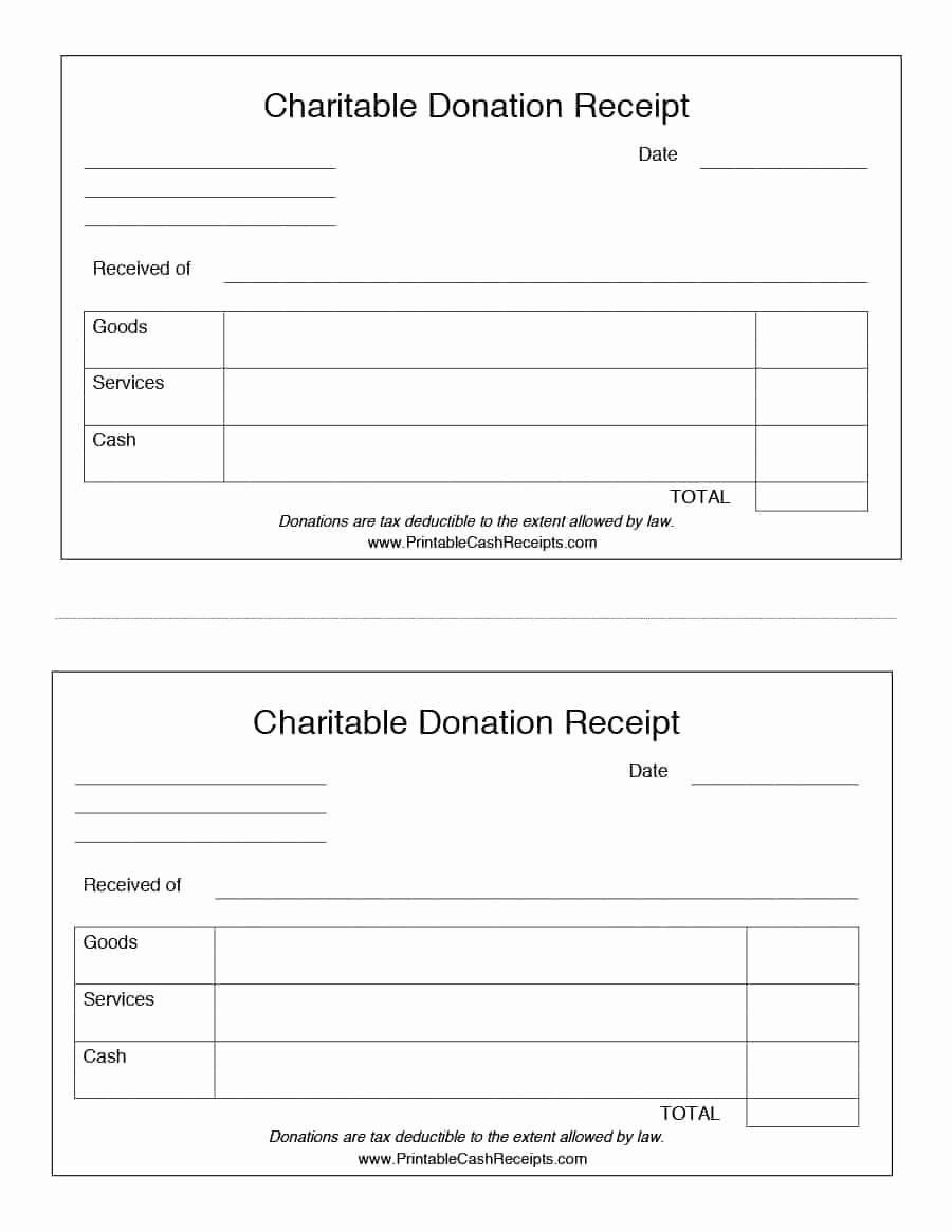 Non Profit Donation Receipt Template Unique 40 Donation Receipt Templates & Letters [goodwill Non Profit]