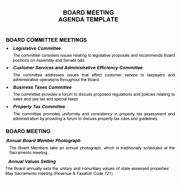 Nonprofit Board Meeting Agenda Template Best Of Invitation to Board Directors Meeting Letter