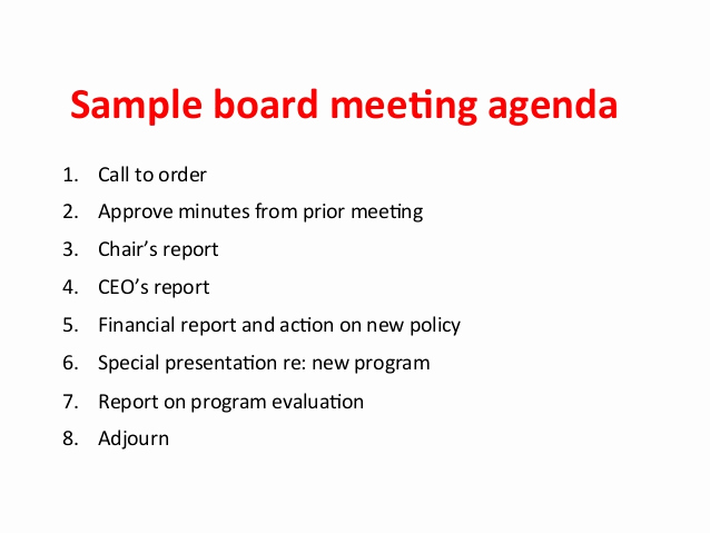 Nonprofit Board Meeting Agenda Template Fresh Ensuring Effective Nonprofit Board Meetings because that
