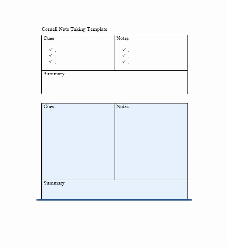 Note Taking Template Word Fresh 36 Cornell Notes Templates & Examples [word Pdf]