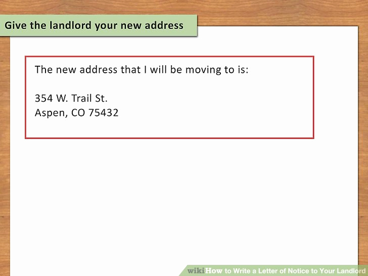 Notice Letter to Landlord Fresh How to Write A Letter Of Notice to Your Landlord 14 Steps