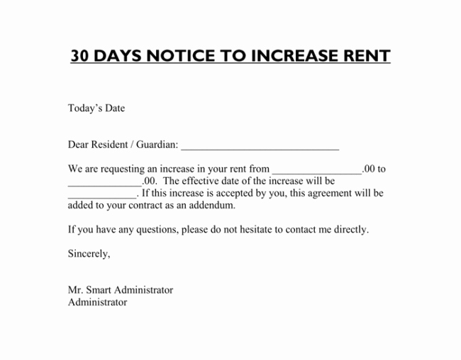 Notice Of Rent Increase Inspirational 9 Samples Of Friendly Rent Increase Letter format for Tenants