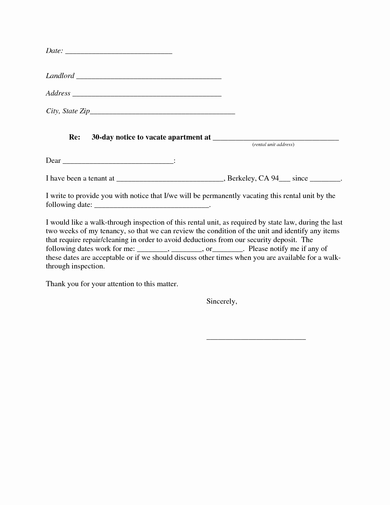 Notice to Vacate Apartment New Best S Of Intent to Move Out Template Sample