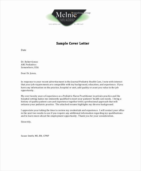 Nurse Cover Letters Examples Awesome Nursing Cover Letter Example 11 Free Word Pdf