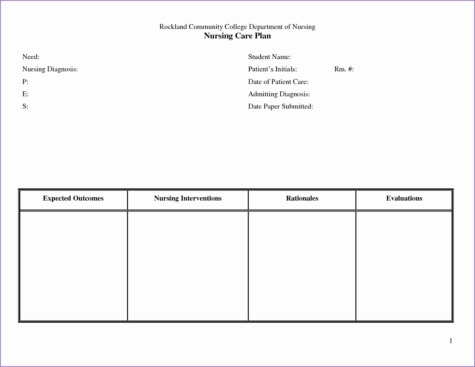 Nursing Care Plans Template Awesome 24 Of Nursing Teaching Plan Template