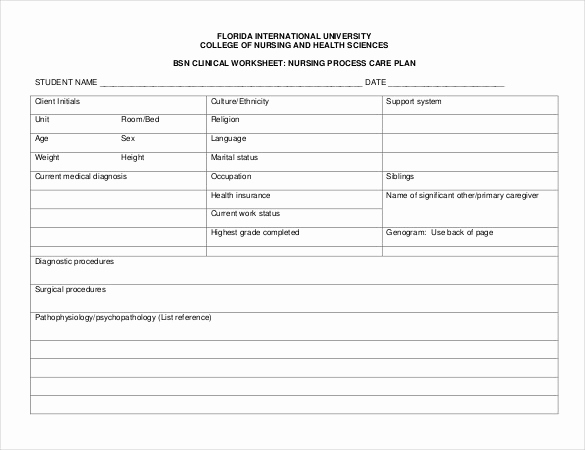 Nursing Care Plans Template Awesome Free Nursing Care Plan Templates Beepmunk