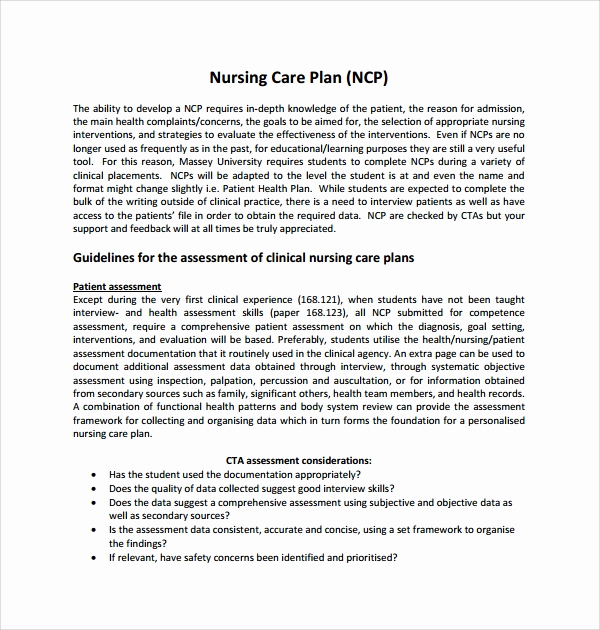 Nursing Care Plans Template Elegant Sample Care Plan Template 17 Documents In Pdf Word