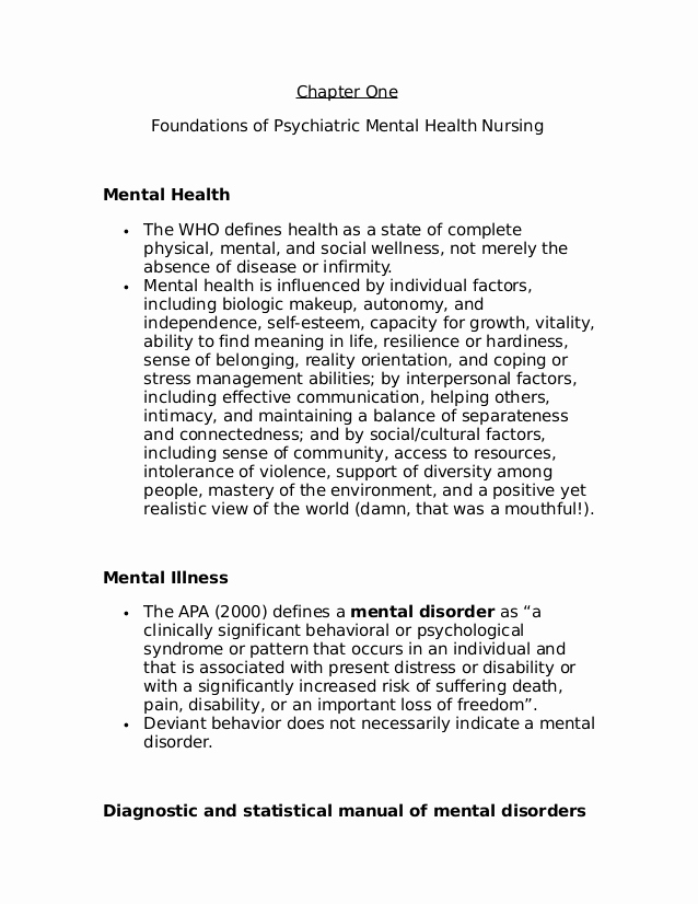 Nursing Progress Notes Examples Awesome Lecture Notes for Mental Health Nursing Psych Nursing
