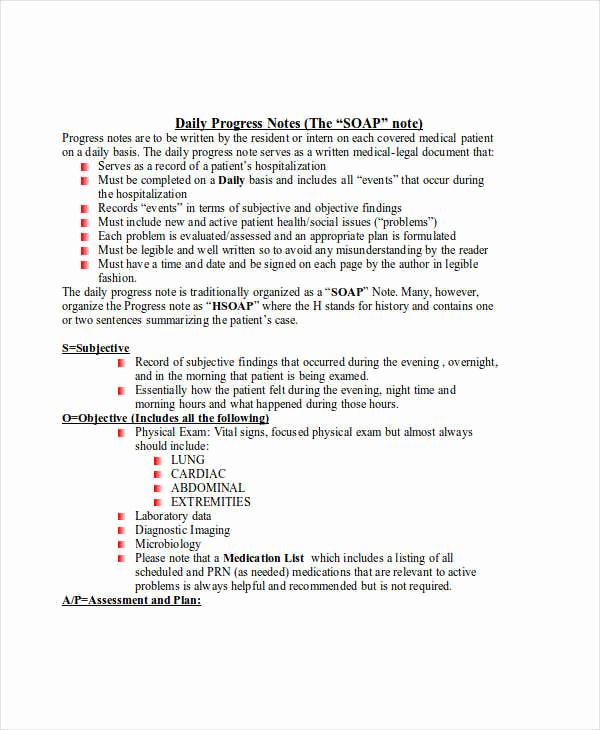 Nursing Progress Notes Examples Fresh 19 Progress Note Examples & Samples Pdf Doc
