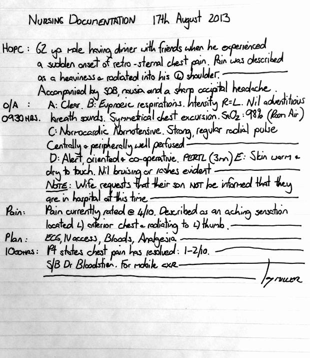 Nursing Progress Notes Examples Inspirational Examples Proper Nursing Documentation to Pin