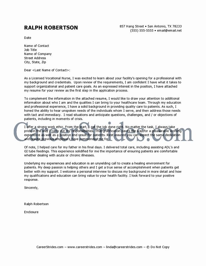 Nursing Resume Cover Letter Unique Nursing Cover Letter Template Free Nurse Cl Ralph