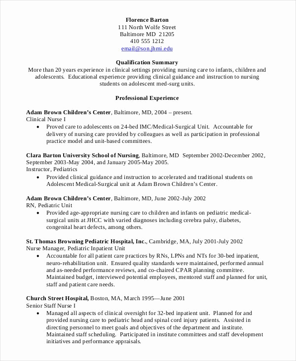 Nursing Student Resume Examples Best Of Nursing Student Resume Clinical Experience