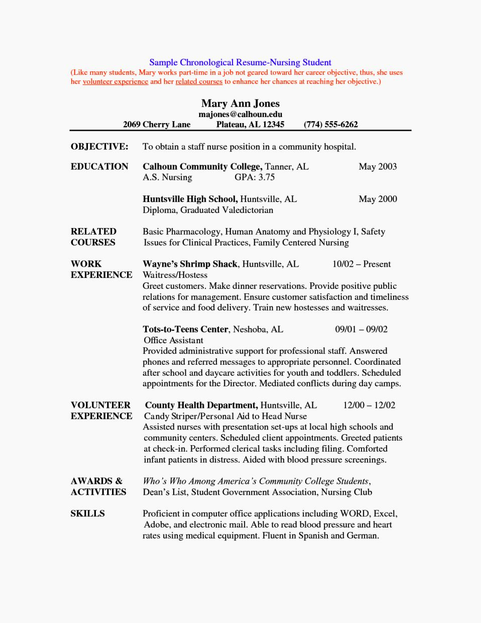 Nursing Student Resume Template Awesome Sample Nursing Student Cv Resume Template