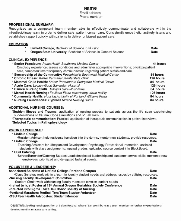 Nursing Student Resume Template Best Of the 25 Best Nursing Documentation Examples Ideas On