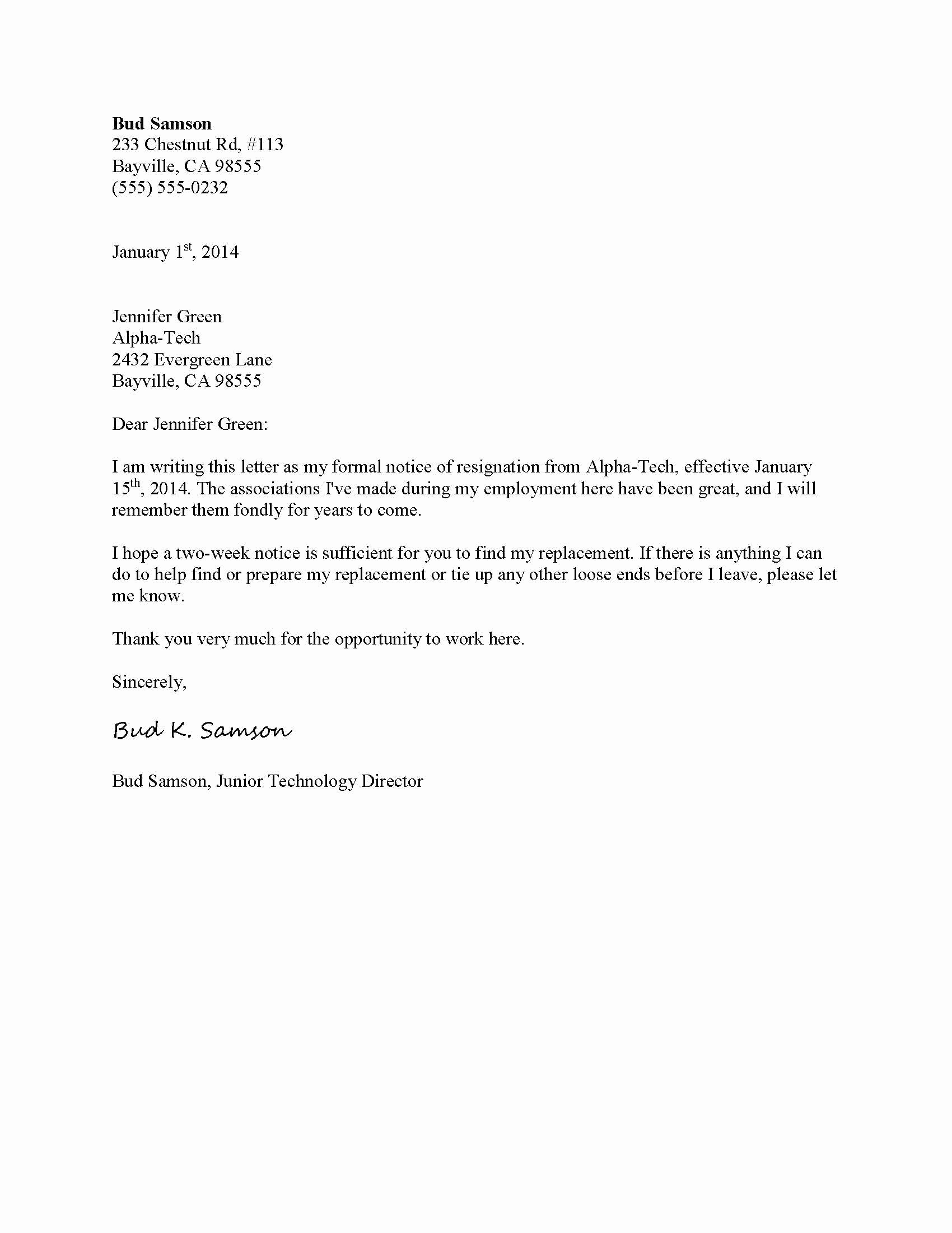 Official Letter Of Resignation Luxury Letter Templates