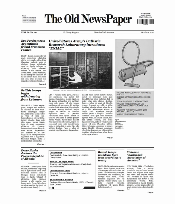Old Newspaper Template Word Fresh Free Newspaper Template 10 Blank Google Docs Word