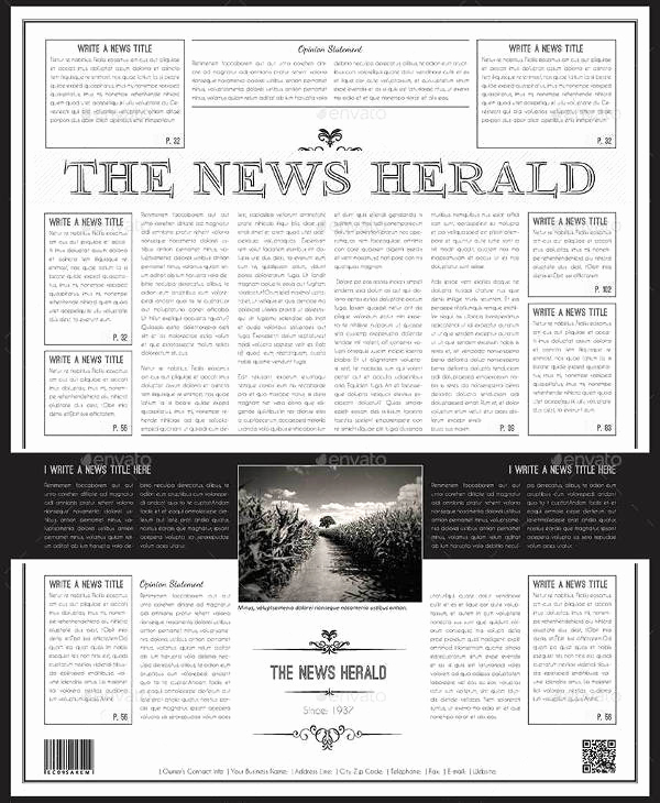 Old Newspaper Template Word Inspirational 53 Amazing Newspaper Templates Pdf Ppt Word Psd