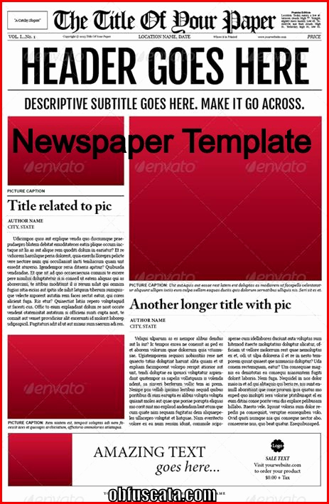 Old Newspaper Template Word Luxury Points to Note In A Newspaper Template