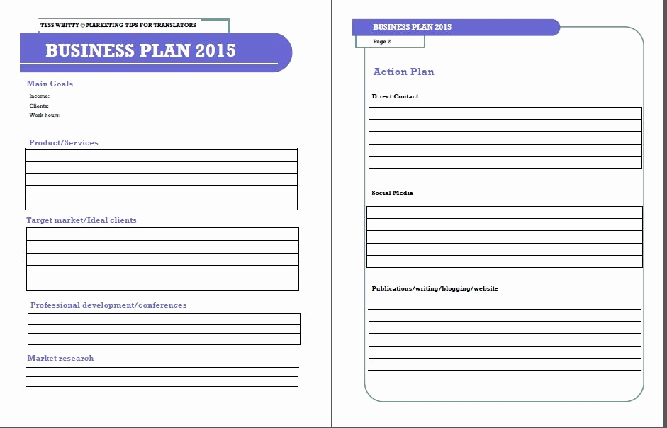 One Page Business Plan Pdf Inspirational E Page Business Plan Template