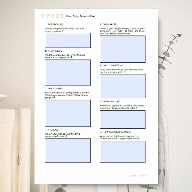 One Page Business Plan Pdf Luxury E Page Business Plan 2 Columns Pdf Worksheet