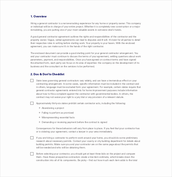 One Page Independent Contractor Agreement Fresh Contractor Agreement Template – 23 Free Word Pdf Apple