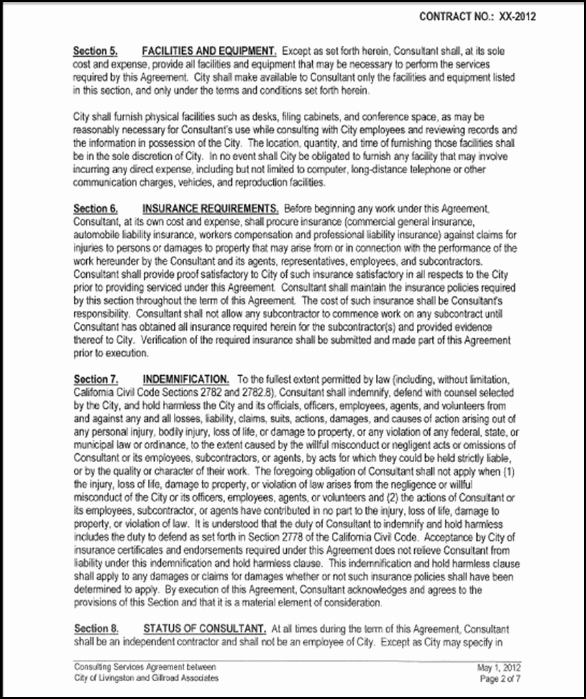 One Page Independent Contractor Agreement Inspirational Page Independent Contractor Agreement