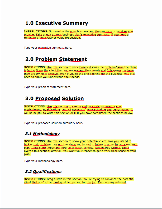One Page Proposal Template Awesome Free Business Proposal Template Download