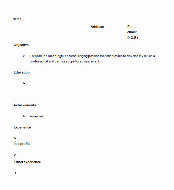 One Page Resume Examples Best Of 41 E Page Resume Templates Free Samples Examples