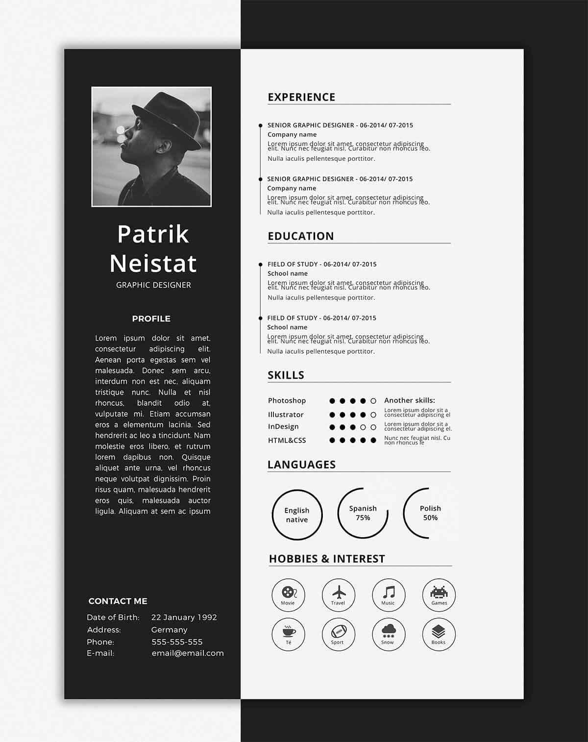 One Page Resume Examples Fresh E Page Resume Templates 15 Examples to Download and Use now