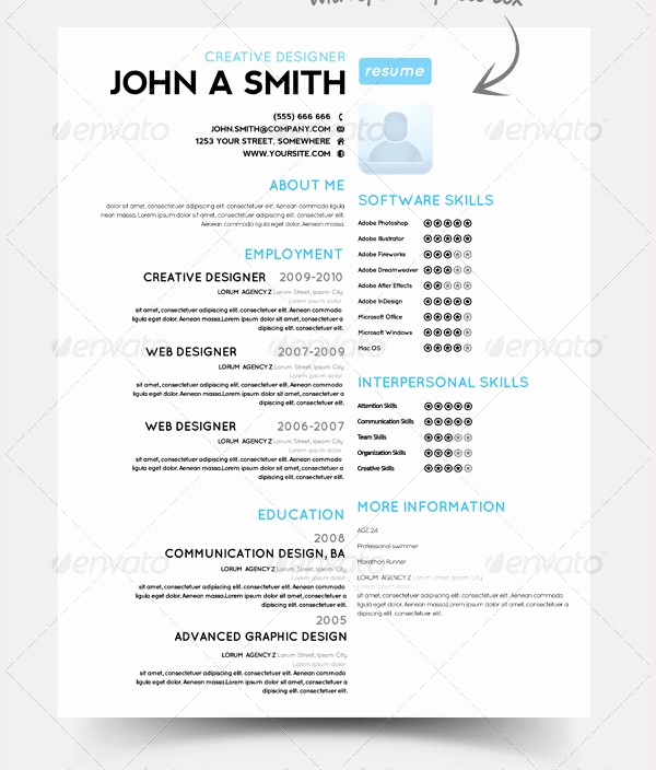 One Page Resume Examples Lovely Psd Resume Template – 51 Free Samples Examples format