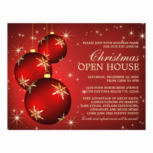 Open House Flyer Templates Awesome Christmas & Holiday Open House Flyer Template