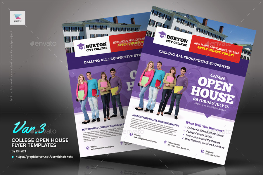 Open House Flyer Templates Awesome College Open House Flyer Templates by Kinzishots