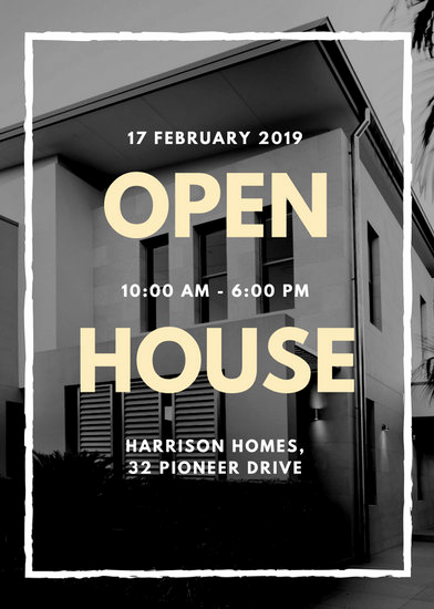 Open House Flyer Templates Beautiful Customize 101 Real Estate Flyer Templates Online Canva