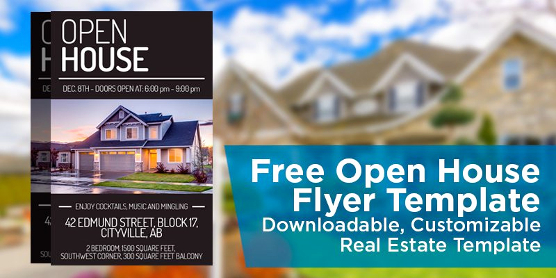 Open House Flyer Templates Elegant Free Open House Flyer Template – Downloadable