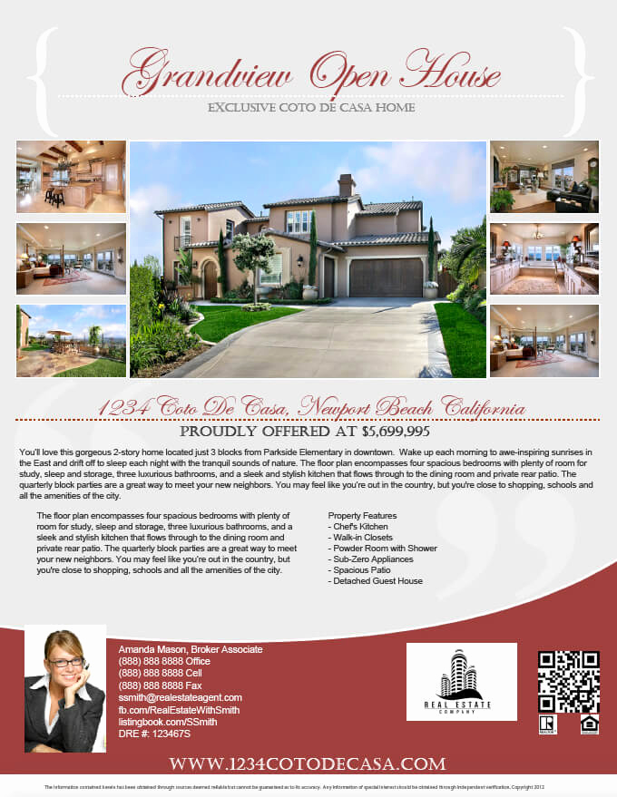 Open House Flyer Templates Elegant How to Make A Pdf Real Estate Flyer Step by Step