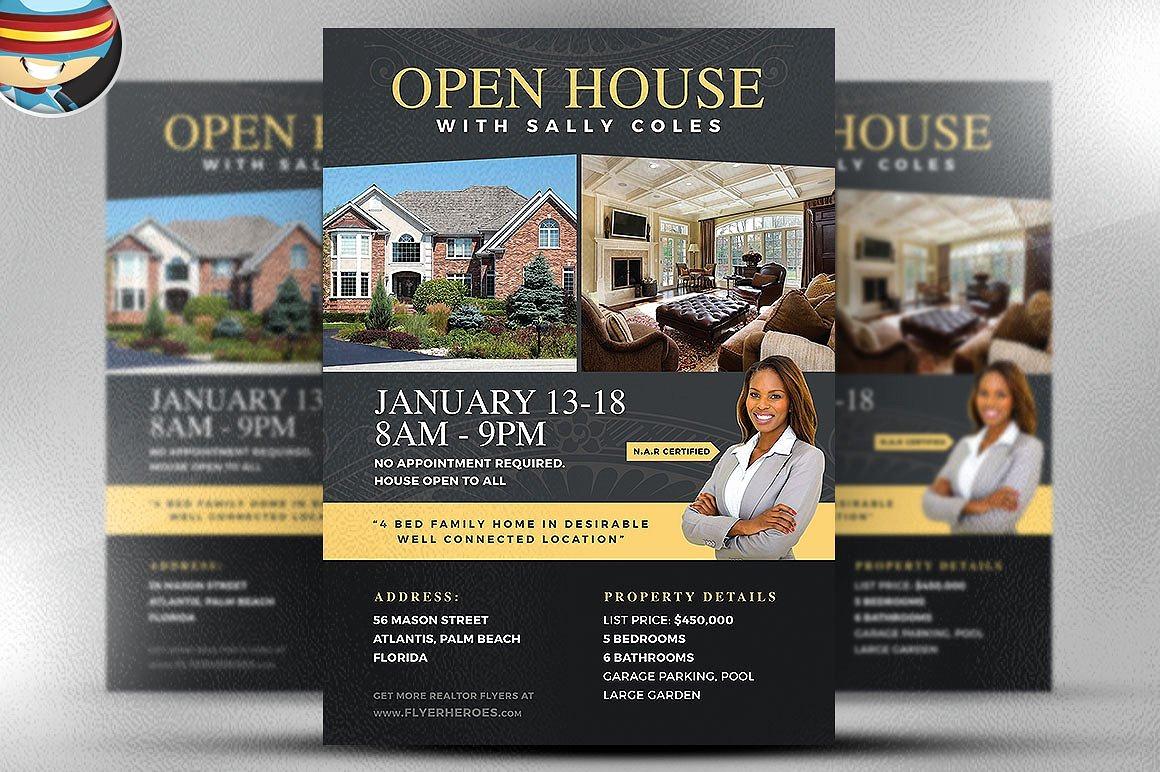Open House Flyer Templates Elegant Open House Flyer Template 2 Flyer Templates Creative